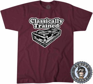 Classically Trained Music Inspired Mixer Vintage Tshirt Mens Unisex 1098
