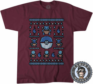 Squirtle Ugly Sweater Tshirt Mens Unisex 2914