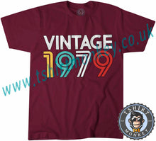 Load image into Gallery viewer, Vintage 1979 T Shirt T-Shirt Unisex Mens Kids Ladies - TeeTiger