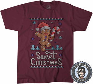 Sweet Christmas Ugly Sweater Tshirt Mens Unisex 2891