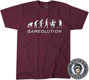 Gamevolution Vintage Game Inspired Funny Tshirt Mens Unisex 1068