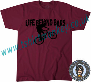 Life Behind Bars Bike T-Shirt Unisex Mens Kids Ladies