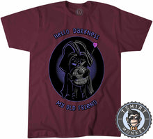 Load image into Gallery viewer, Hello Darkness My Old Friend Cute Darth Vader Cartoon Tshirt Mens Unisex 1269
