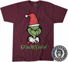 Load image into Gallery viewer, Grinchffindor | Harry Potter X Grinch Inspired Christmas Tshirt Mens Unisex 1628
