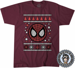 Spidey Badge Ugly Sweater Christmas Tshirt Mens Unisex 1665