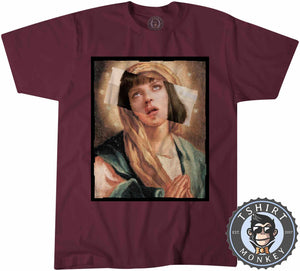 Virgin Mia Wallace Pulp Fiction Movie Inspired Graphic Illustration Tshirt Mens Unisex 1129