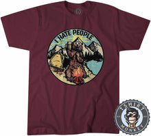 Load image into Gallery viewer, I Hate People Funny Bear Beer Camping Vintage Summer Tshirt Mens Unisex 1184