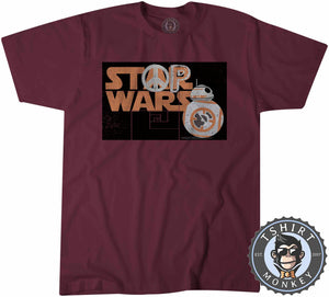 Stop Wars - Star Wars Inspired BB-8 Graphic Peace Statement Tshirt Mens Unisex 1255