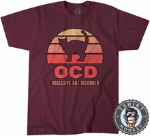 Load image into Gallery viewer, OCD - Obsessive Cat Disorder Cat Lover Funny Vintage Tshirt Mens Unisex 1081