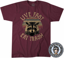Load image into Gallery viewer, Live Fast Eat Trash Vintage Tshirt Mens Unisex 0207