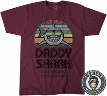 Load image into Gallery viewer, Daddy Shark Vintage 02 Tshirt Mens Unisex 0285