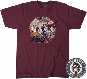 Vintage NASA Inspired Floral Graphic Tshirt Shirt Mens Unisex 2146