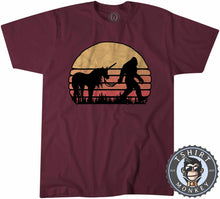 Load image into Gallery viewer, Hidden Together Bigfoot Sasquatch Unicorn Vintage Tshirt Mens Unisex 1072