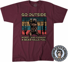 Load image into Gallery viewer, Worst Case Scenario - Bear Beer Vintage Funny Statement Tshirt Mens Unisex 1079