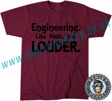 Load image into Gallery viewer, Engineering Like Math But Louder T-Shirt Unisex Mens Kids Ladies - TeeTiger