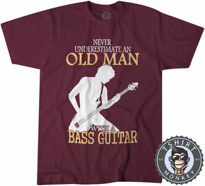 Never Estimate An Old Man Tshirt Mens Unisex 0115