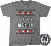Load image into Gallery viewer, Jedi Force Ugly Sweater Christmas Tshirt Mens Unisex 1669