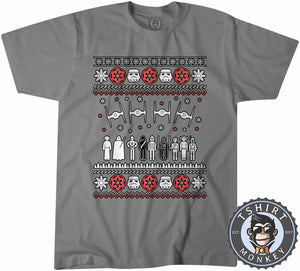 Jedi Force Ugly Sweater Christmas Tshirt Mens Unisex 1669