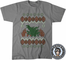Load image into Gallery viewer, Godzilla Ugly Sweater Christmas Tshirt Mens Unisex 2897