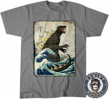 Load image into Gallery viewer, Vintage Godzilla Movie Inspired Wave Graphic Illustration Tshirt Mens Unisex 1326