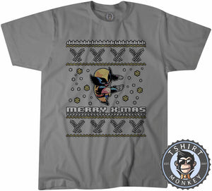Wolverine Inspired Ugly Sweater Christmas Tshirt Mens Unisex 1656