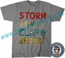 Load image into Gallery viewer, Storm Run Clap Repeat Area 51 Meme T-Shirt Unisex Mens Kids Ladies - TeeTiger
