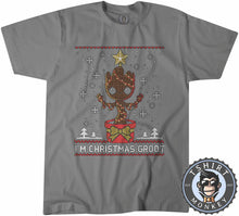 Load image into Gallery viewer, Groot Inspired Ugly Sweater Christmas Tshirt Mens Unisex 2857