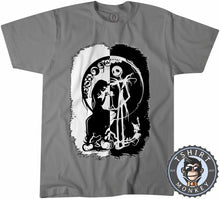 Load image into Gallery viewer, Black And White Nightmare Before Christmas Halloween Tshirt Mens Unisex 1059