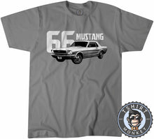 Load image into Gallery viewer, American Muscle Car Mustang 66 Fastback Tshirt Mens Unisex 0004