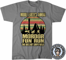 Load image into Gallery viewer, Annual Mordor Fun Run Movie Inspired Funny Vintage Tshirt Mens Unisex 1100