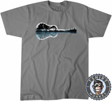 Load image into Gallery viewer, Nature Guitar Landscape Tshirt Mens Unisex 0087