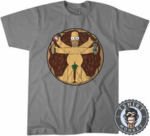 Load image into Gallery viewer, The Vitruvian Man Homer Funny Cartoon Tshirt Shirt Mens Unisex 2371