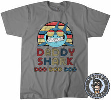 Load image into Gallery viewer, Retro Daddy Shark Animal Print Music Inspired Vintage Tshirt Mens Unisex 1071