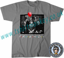 Load image into Gallery viewer, Myers Jigsaw Pennywise Jason Kruger Hitler Friends Horror Parody Characters Halloween T-Shirt Unisex Mens Kids Ladies