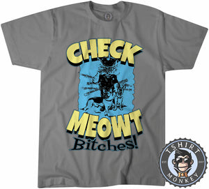 Check Meowt Funny Police Cat Graphic Tshirt Mens Unisex 1063
