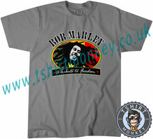 Load image into Gallery viewer, Bob Marley 'A Tribute To Freedom' T Shirt T-Shirt Unisex Mens Kids Ladies