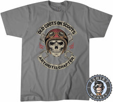 Load image into Gallery viewer, Old Coot on Scoots Biker Tshirt Mens Unisex 0058