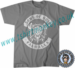 Vikings Rise Sons of Odin Thor T Shirt T-Shirt Unisex Mens Kids Ladies - TeeTiger