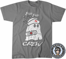 Load image into Gallery viewer, Boo Boo Crew - Cool Funny Ghost Halloween Tshirt Mens Unisex 1213