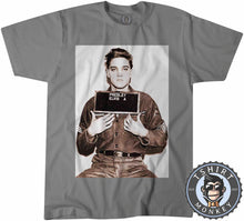 Load image into Gallery viewer, The Kings Mug Shot - Elvis Inspired Graphic Illustration Tshirt Mens Unisex 0925