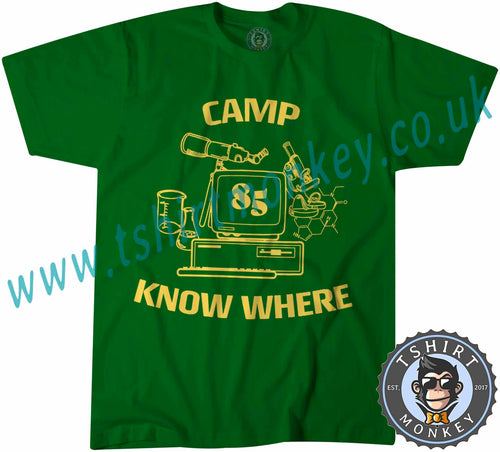 Camp Know Where Stranger Things Inspired Dustin T Shirt T-Shirt Unisex Mens Kids Ladies