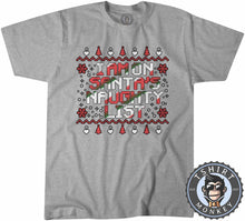 Load image into Gallery viewer, Santa's Naughty List Colored Ugly  Sweater Christmas Tshirt Mens Unisex 1639
