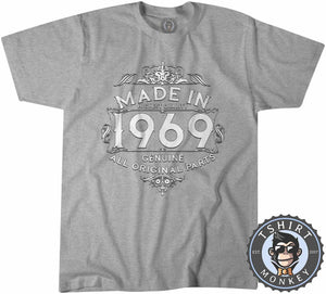 1969 Made In Highest Quality   Typography Graphic Illustration Shirt Tshirt Mens Unisex 1170