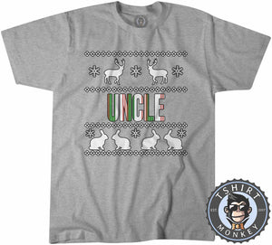 Uncle Colored Ugly Sweater Christmas Tshirt Mens Unisex 1675