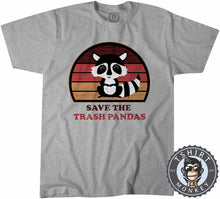 Load image into Gallery viewer, Save The Trash Panda Funny Skunk Meme Vintage Tshirt Mens Unisex 1076