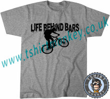 Load image into Gallery viewer, Life Behind Bars Bike T-Shirt Unisex Mens Kids Ladies