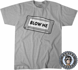 Blow Me Game Inspired Classic Game Cartridge Statement Tshirt Kids Youth Children 1202