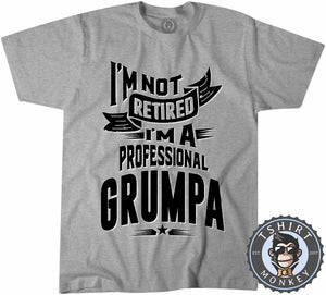 I'm A Professional Grumpa Funny Vintage Statement Tshirt Kids Youth Children 1175