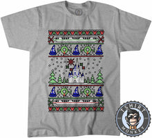 Load image into Gallery viewer, Magical Castle Ugly Sweater Christmas Tshirt Mens Unisex 2871