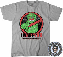 Load image into Gallery viewer, Slimer - I Want You To Bust Some Ghosts Movie Inspired Tshirt Kids Youth Children 1188
